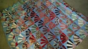 Vintage quilt on arrival